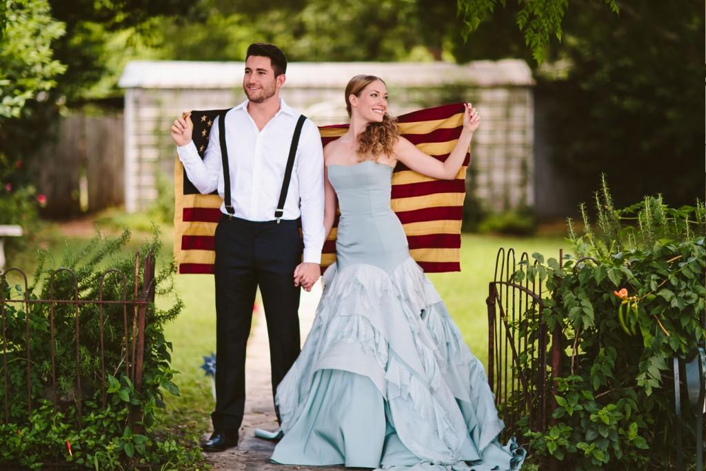 Patriotic Wedding : Al Gawlik Photography : Pink Parasol Designs and Coordinating : Carrington Crossing : Tara LaTour